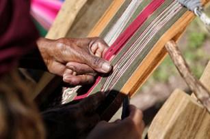 Aramasi working hands, Bolivia