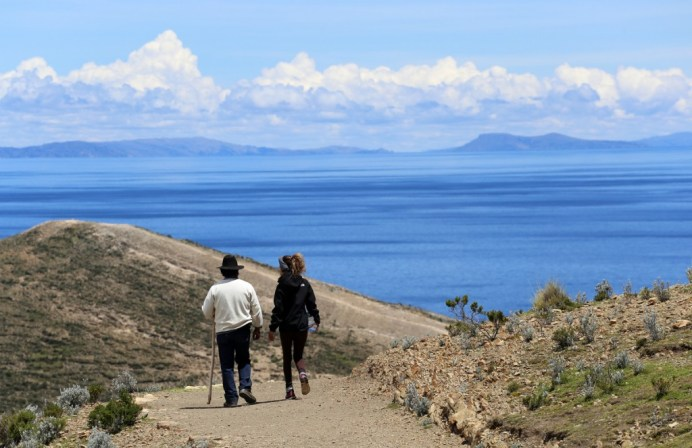 Incredible views of Lake Titicaca from the Sun Island in Bolivia