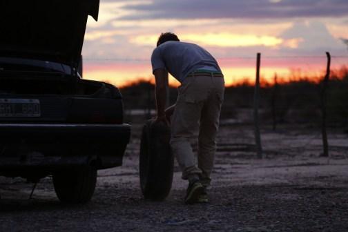 Tyre change in Mendoza, Argentina