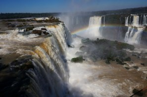 The majestic Iguazu Falls between Brazil and Argentina