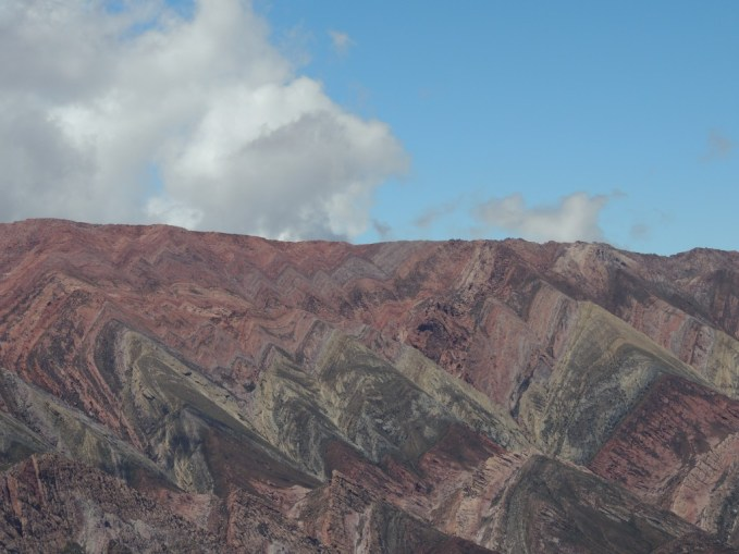 El Hornocal - coloured mountains in Humahuaca, northern Argentina