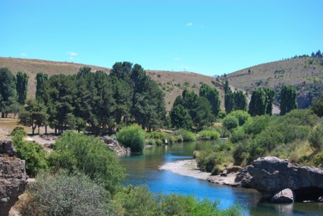 The lazy Pichi Leufu River makes for a great setting and good fishing near Bariloche