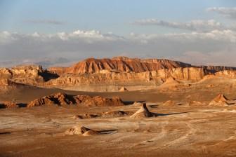 Far views of the Moon Valley, San Pedro de Atacama, Chile