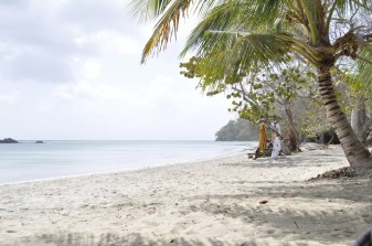 Relaxing by the beach in Providencia Island, Colombia