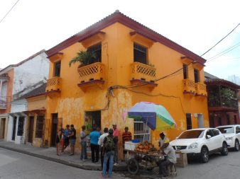 Colourful property in Cartagena, on the Colombian Caribbean coast