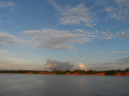 Sailing down the mighty Amazon River, to the west of Manaus, Brazil