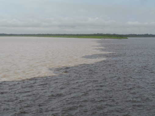 The Amazon meets Rio Negro, Manaus, Brazil