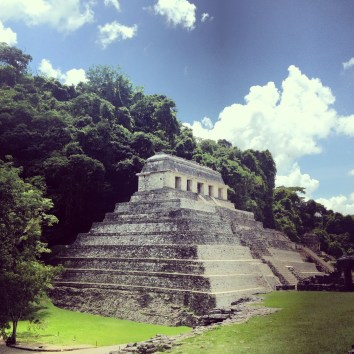 Palenque archaeological site, the ruins of a Mayan city state, in the state of Chiapas, Mexico