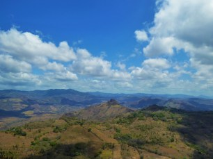 Enjoying spectacular 360 degree views from the top of Cerro El Chile, Northern Nicaragua