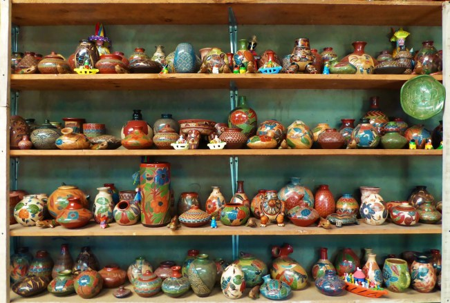 So much choice at the traditional pottery school in San Juan de Oriente, one of the Pueblas Blancas, near Masaya, Nicaragua