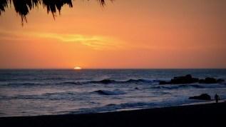 Amazing sunset at Las Penitas Beach in Nicaragua