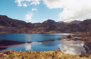 An incredible lake at the Cajas National Park near Cuenca, Ecuador