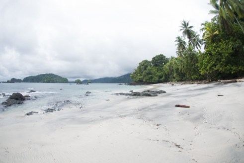 Playa Blanca, beautiful and tranquil in Bahia Solano, Colombia