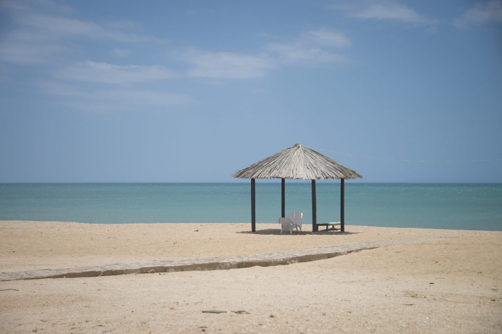 A beach hut along the northern Colombian coast in La Guajira