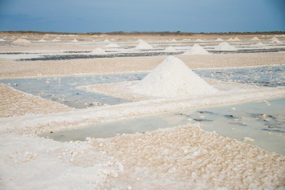 Incredible Manaure Salt Flats near La Guajira, Colombia