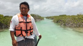 Our guide for the Sian Kaan explorations, Mexico