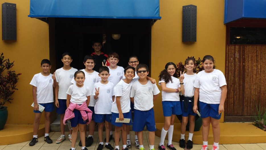 A group of school kids enjoying a day at the Xandari Resort to learn about sustainability