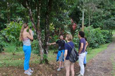 Our guide Jose Pablo explaining about the wildlife and nature that makes Costa Rica exuberant