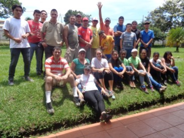 People from the local community who are part of the street cleanup group Xandari works with, Costa Rica