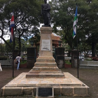 Simon Bolivar statue at the Morazan Park in San Jose, Costa Rica.