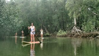 Stand up paddling is a popular activity on Nosara River. (Picture by Mike K)
