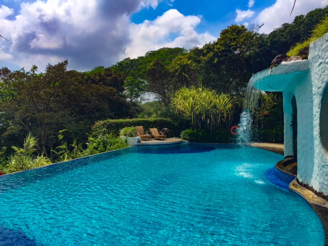 The chemical-free swimming pool at Finca Rosa Blanca in Costa Rica