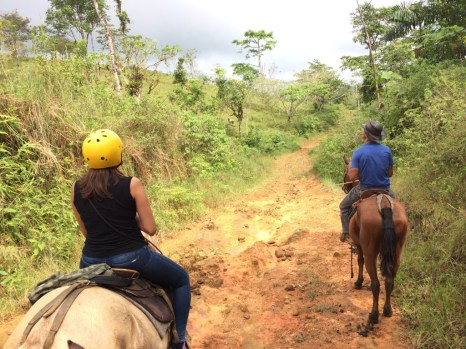 Horseriding with Wilson in Guatuso, near the Celeste River