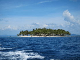 One of the small and beautiful islands of San Blas Archipelago in Panama