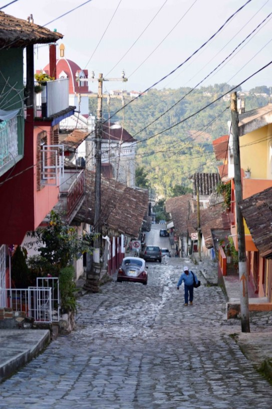 Visiting the charming streets of Cuetzalan in Puebla, Mexico