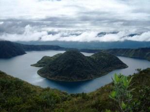 During a hiking excursion to the Cuicocha Lagoon near Otavalo, in Ecuador