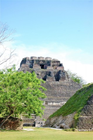 The impressive El Castillo structure at Xunantunich dominates this archeological site in Belize
