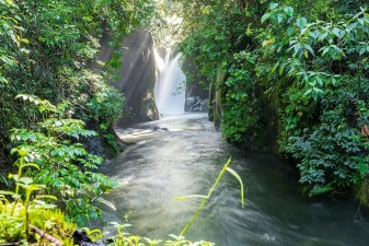 Beautiful waterfalls during a hiking excursion in the Dota region, Costa Rica