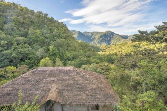 View over the mountains from the luxury tent at Tami Lodge, near Providencia, Costa Rica