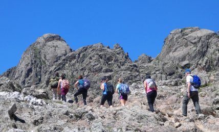 Trekking the arid mountains of the Sierras Grandes near Cordoba, Argentina