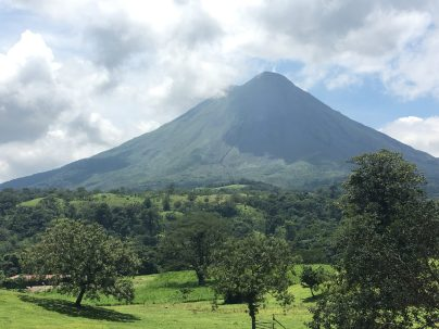 The beautiful, cone-shaped Arenal Volcano in Costa Rica
