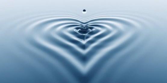 Heart shaped splash