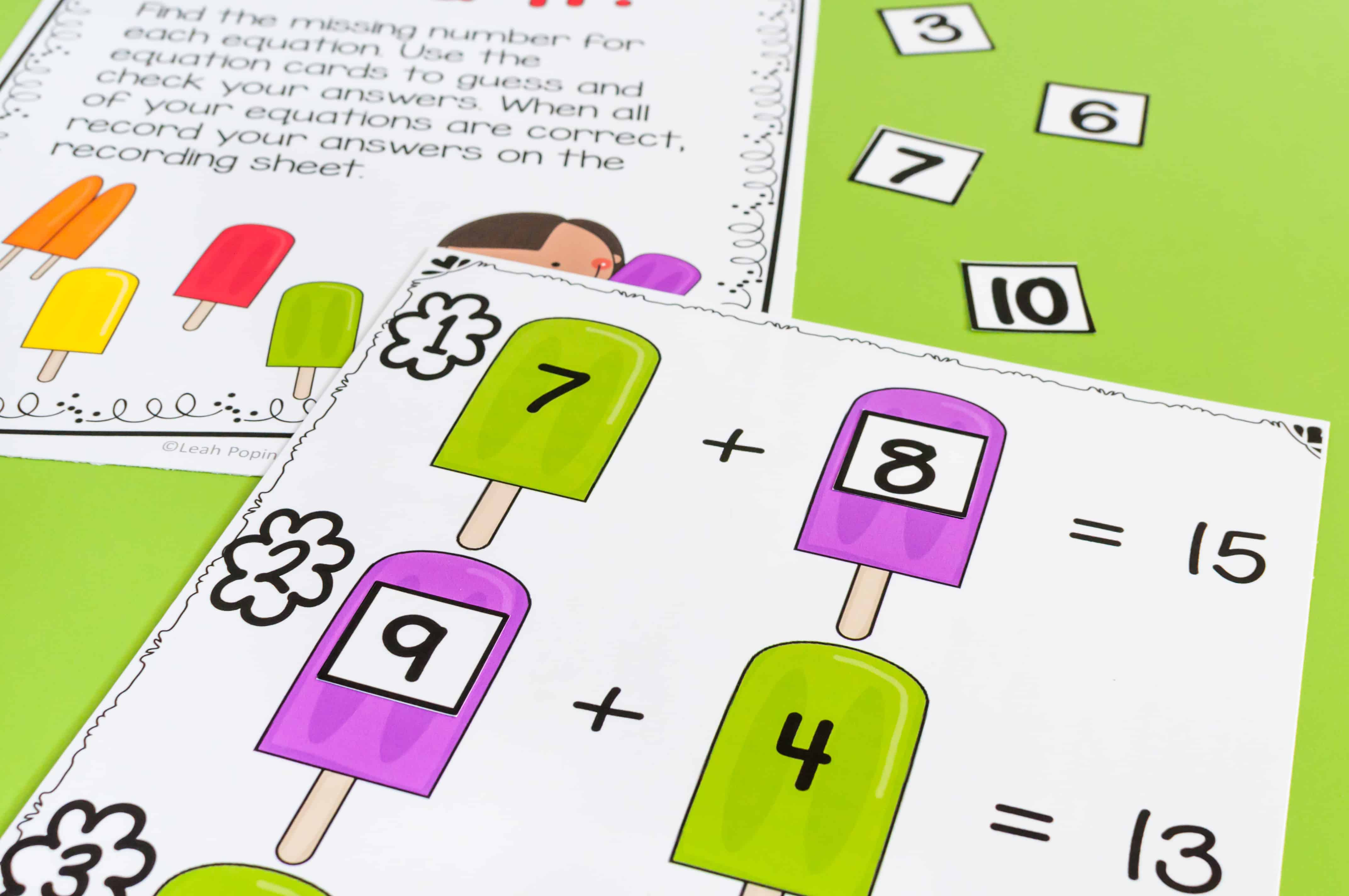 Addition And Subtraction Fact Fluency Activities
