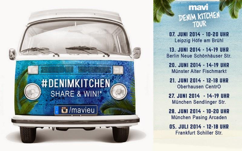 Einladung: MAVI DENIM KITCHEN TOUR! Werdet kreativ mit Mavi und mir in Frankfurt am 05. Juli ♥