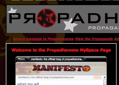 Propadhamma on MySpace