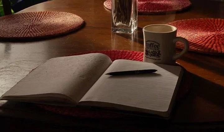 Saturday morning journaling.