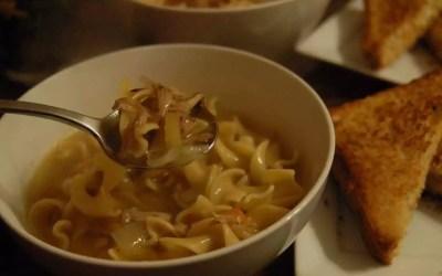 """Vegan """"Chicken"""" Noodle Soup"""