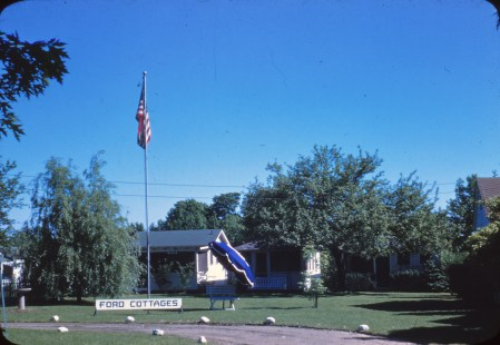 Ford Cottages in the 1950s. As of 2016, only two of the original cottages still stood.