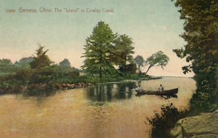 An island once stood in Cowles Creek.