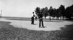 A ballgame at Township Park, 1938. Star Beacon archives.