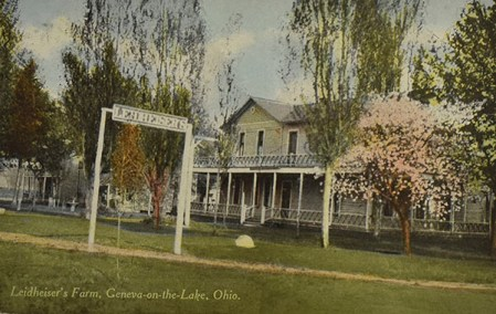 The Leidheiser Farm provided fresh vegetables and dairy to other guest houses on The Strip. The farm stood just east of Chestnut Grove and marked the start of the tourist area along the strip. Sturgeon Point condos stands there now.