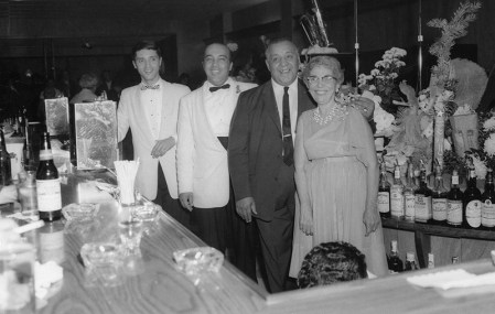 Peter Macchia with his nephew Bobby Nocera (left) and his parents, Frank and Jeanette, in The Cove, circa mid-1960s.