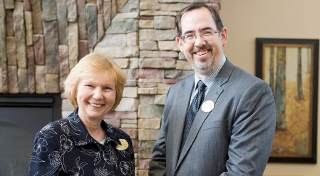 Lodge General Manager Jeannette Petrolia with Eric Frantz, who succeeded her as GM in 2013.