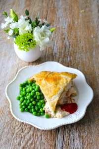 chicken pot pie, chicken, pie, puff, pastry, catering, home cooked, prepared foods, catering, own dish