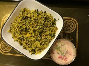 Methi Bhaath with Raita