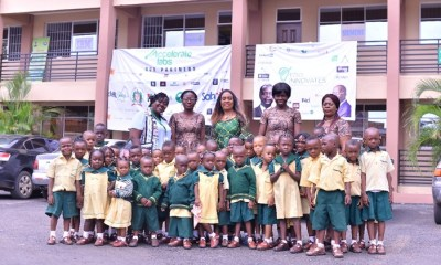 Pupils of Abbey Nursery and Primary School with their teachers at the Edo Innovation Hub, during an excursion to the facility in Benin City, Edo State